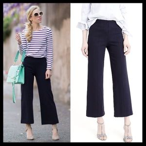 SOLD ❤️ j. crew // wide leg black ponte crop pants